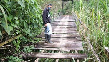 Habitantes de 5 veredas de Córdoba están en riesgo por pésimo estado de puente