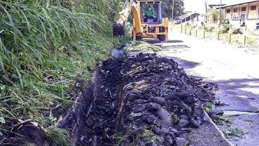 26 toneladas de basura sacaron del canal de aguas lluvias de La Estación