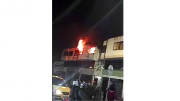 Un apartamento afectado, saldo del incendio de la calle 23 entre carreras 18 y 19