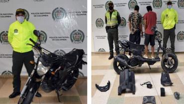2 motocicletas hurtadas en Armenia fueron recuperadas por la Policía