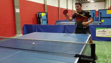 Quindiano Santiago Prias, dentro del PAD en el tenis de mesa