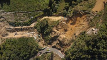 Recorrido hacia el derrumbe Bellavista