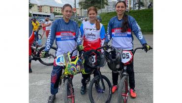 Camila Hernández y Emmanuel Gómez, ganadores élite de departamental de BMX