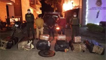 En Buenavista, incautados 296 kilos de marihuana