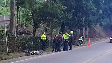 Investigan las causas del deceso de  ciclista en vía Armenia-Montenegro