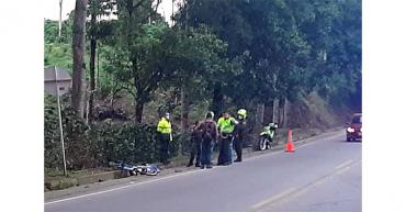 Ciclista hallado muerto en la vía Armenia - Montenegro