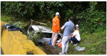 Paseo familiar terminó en accidente de tránsito