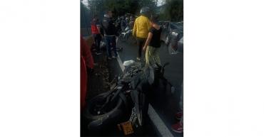 Un motociclista lesionado en accidente en la vía a La Línea