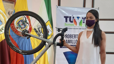 Con bicicleta nueva, Lina Raga Prieto continuará su camino hacia los Olímpicos