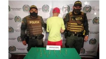 Menor de edad fue aprehendido en Córdoba con 17 proyectiles