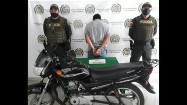 Robó una moto y tras una persecución fue capturado