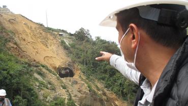 Emergencia en Bellavista, superada con estabilización y construcción de terrazas