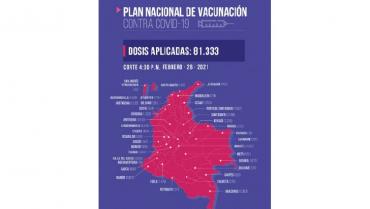 Casi 1.000 vacunas contra el coronavirus van aplicadas en el Quindío