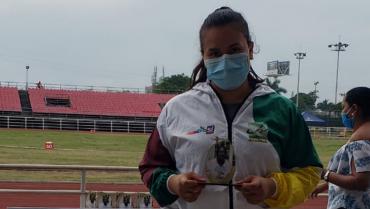 Maryuri Orozco fue plata en nacional de lanzamiento de martillo