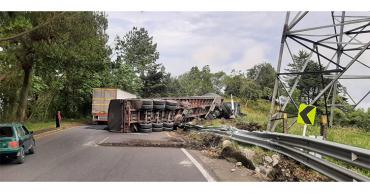Conductor salió ileso de accidente de tránsito