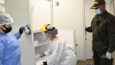 Al Quindío llegaron 3.510 dosis Pfizer para continuar fase I de vacunación
