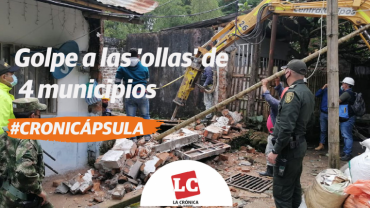 #Cronicápsula | MinDefensa ataca en Quindío predios destinados al expendio de drogas