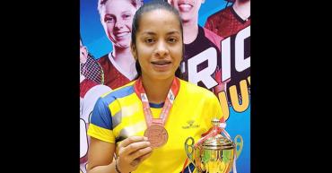 Yulieth Pérez se ganó un cupo en la selección Colombia de bádminton