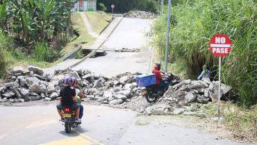 $949 millones para el arregló de la vía entre Malibú y Portal de Pinares y para muro en La Aldana