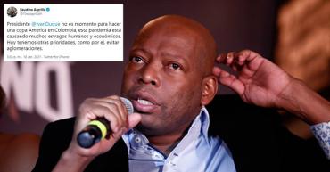 El 'Tino' Asprilla pide al presidente colombiano no hacer la Copa América