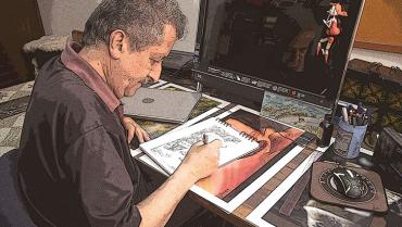 El caricaturista quindiano que también ayudó a resolver crímenes