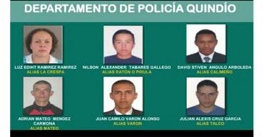 Policía dio a conocer a los 12 más buscados por el tráfico de estupefacientes en Quindío