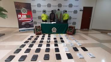 Capturados 2 hombres por transportar 50 kilos de cocaína