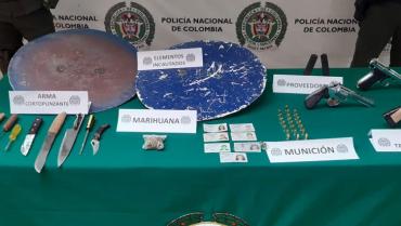 Policía incautó armas de fuego y blancas de infiltrados en las marchas