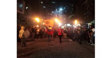 Manifestantes permanecen sobre la carrera 14 cerca a la Universidad del Quindío