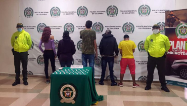 Cárcel a 6 personas señaladas de vender drogas en hoteles del centro de Armenia