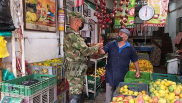 Asistencia militar de la Octava Brigada en la región