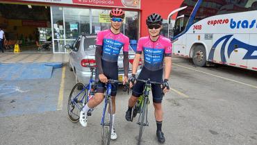 Esteban Mejía y Steven Quesada, cuarto y noveno en  zonal de ciclismo