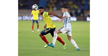2-2. Borja, el salvador de Colombia en el último minuto ante Argentina
