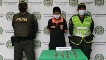 Detenido en Montenegro tenía 36 dosis de marihuana