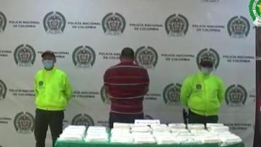 Capturado hombre con 25 kilos de cocaína