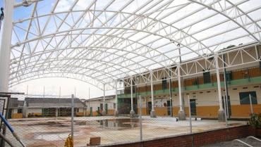 Complejo deportivo de El Naranjal en Quimbaya, con un 85 % de avance