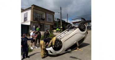 Un lesionado en accidente de tránsito en Circasia