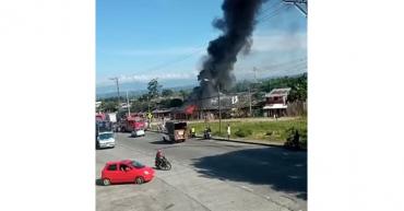 Controlado incendio en el sector de la antigua carrilera del tren