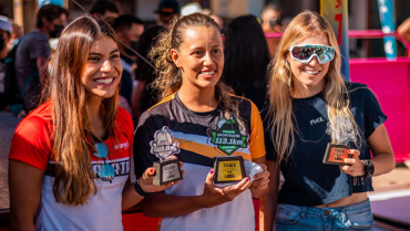 Cinco meses después de tener a su hija, triatleta volvió a ser campeona