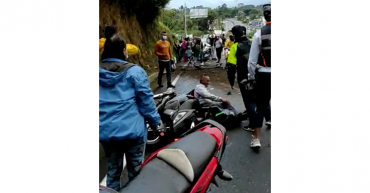 Aparatoso accidente de tránsito en la vía Armenia- Circasia