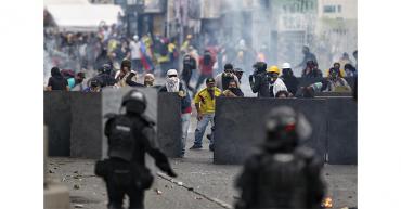 Defensoría reporta 50 heridos en protestas del 20 de julio en Colombia