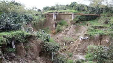 ¿En riesgo el suministro de agua en Calarcá por daño de la tubería?