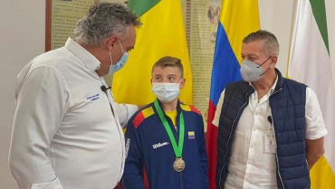 Tenista Samuel Mesa recibió incentivo de la Gobernación