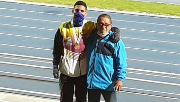 Atleta quindiano ganó oro en la pista de Bogotá