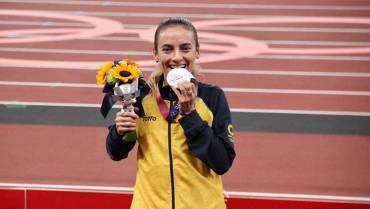 La medallista olímpica que  marchó en el Quindío