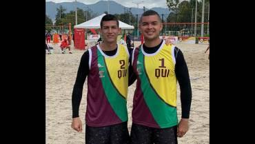 Quindianos clasificaron a los IV Juegos de Mar y Playa 2021, en volley playa