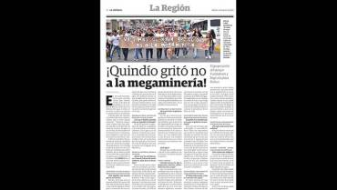 Pasó en el 2016: Los quindianos se movilizaron en defensa de su territorio