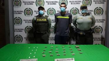 Capturado  hombre con  estupefacientes en La Mariela