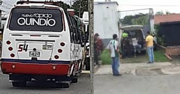 Se robaron una buseta en La Tebaida